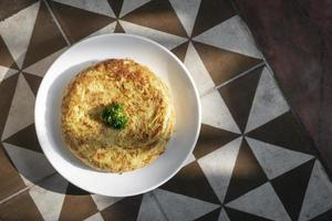 spanish tortilla omelet traditional tapas food on traditional rustic background photo
