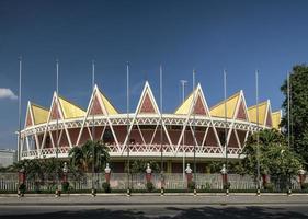 Chaktomuk Conference Hall architecture landmark building in phnom penh cambodia photo