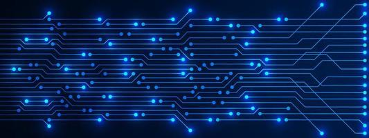 Abstract Technology Background, blue circuit board pattern with electricity light, microchip, power line vector