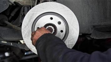 Car Mechanic Repairs Disc Brake System video