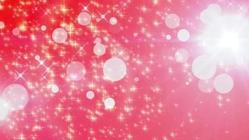 sfondo di animazione particella bagliore rosso stella video