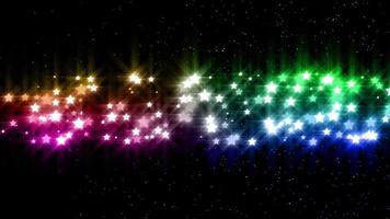 animazione di sfondo delle particelle di stelle arcobaleno video