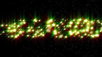 animazione di sfondo di particelle di stelle d'oro video