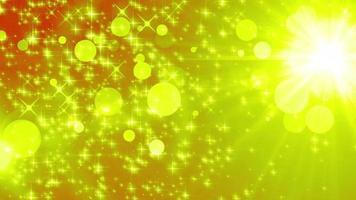 animazione di sfondo di particelle d'oro a stella video