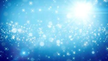 sfondo di animazione del ciclo di particelle blu video