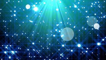 animazione di sfondo di particelle blu video