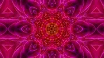 abstrakt vintage rosa blommig kalejdoskop bakgrund video