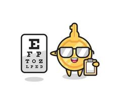 Illustration of key mascot as an ophthalmologist vector