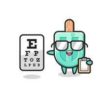 Illustration of popsicles mascot as an ophthalmologist vector