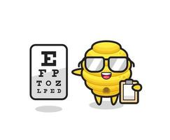 Illustration of bee hive mascot as an ophthalmologist vector