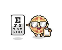 Illustration of apple pie mascot as an ophthalmologist vector