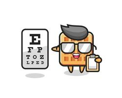 Illustration of waffle mascot as an ophthalmologist vector