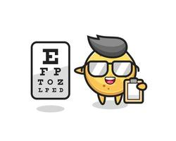 Illustration of potato chip mascot as an ophthalmologist vector