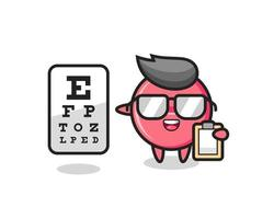 Illustration of medicine tablet mascot as an ophthalmologist vector