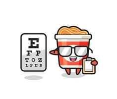 Illustration of instant noodle mascot as an ophthalmologist vector