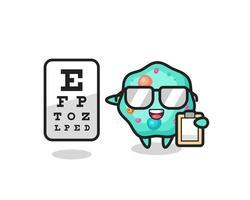 Illustration of amoeba mascot as an ophthalmologist vector