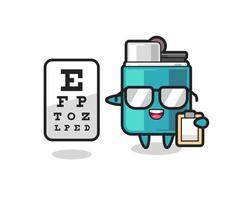 Illustration of lighter mascot as an ophthalmologist vector