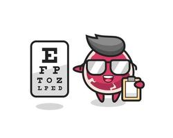 Illustration of beef mascot as an ophthalmologist vector