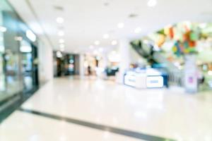 abstract blur shop and retail store in shopping mall photo
