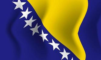 Background waving in the wind Bosnia and Herzegovina flag. Background vector