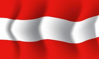 Background waving in the wind Austria flag. Background for patriotic vector
