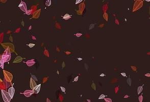 Light Red, Yellow vector sketch background.