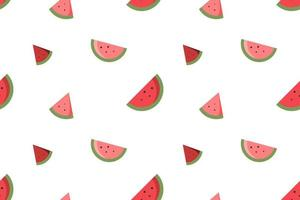 a piece of watermelon seamless pattern white design vector