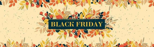 Black Friday big autumn discounts, web ad banner - Vector