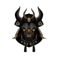 Samurai Warrior Helmet vector