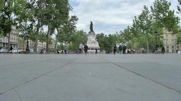 Place de la Republique town square in Paris, France. video