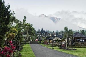 besakih temple famous landmark attraction in bali indonesia photo
