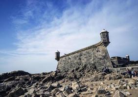castelo do queijo old fort landmark in porto portugal photo