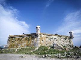 castelo do queijo fort landmark on porto coast portugal photo