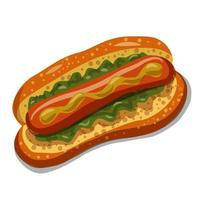 Hot Dog with Chips vector