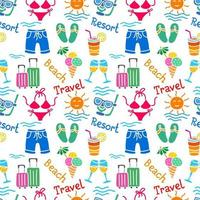 resort colorful seamless pattern vector