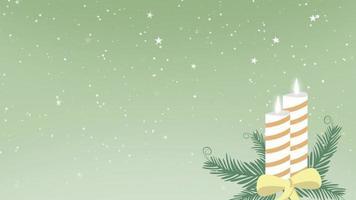Animation Christmas holiday decoration video