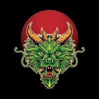 Dragon head Illustration vector