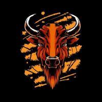 Bison head Illustration vector