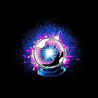 Witch Plasma Ball Illustration vector