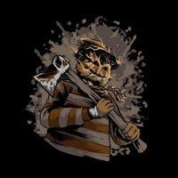 Halloween Scarecrow Killer Illustration vector