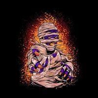 ilustración de halloween de momia vector