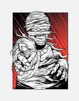 Mummy zombie Illustration vector