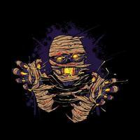 Mummy scream Illustration vector