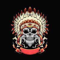 Apache skull Illustration vector