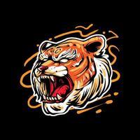 tiger headi illustration premium vector
