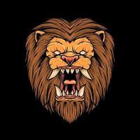 Lion head Illustration vector