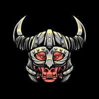 Viking Baboon Vector Illustration