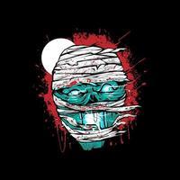Mummy zombie head  Illustration vector