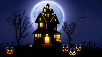 noche de halloween con calabazas video