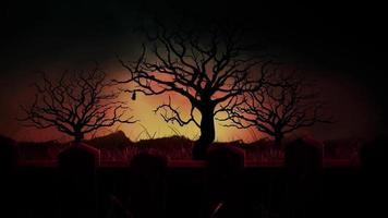 nuit effrayante d'halloween video